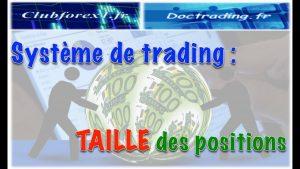 Système de Trading: Calcul de La Taille des Positions